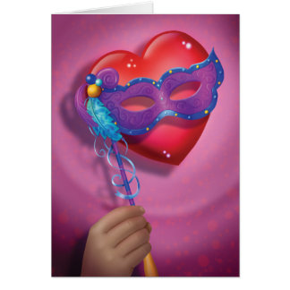 Jingle Jingle Little Gnome Heart Mask Note Card