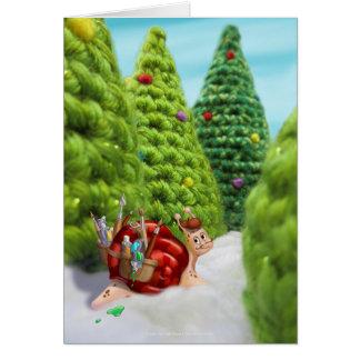 Jingle Jingle Little Gnome Holiday Snail Card