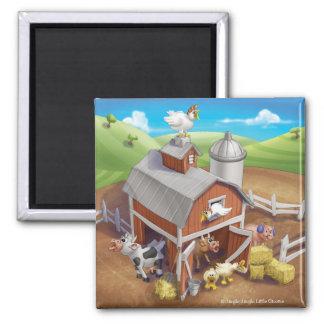 Jingle Jingle Little Gnome Loud Farm Magnet 2 Inch Square Magnet