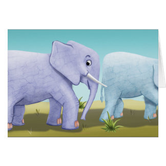 Jingle Jingle Little Gnome Marching Elephant Card