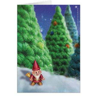 Jingle Jingle Little Gnome Nighttime Forest Card