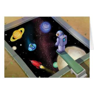 Jingle Jingle Little Gnome Outer Space Note Card