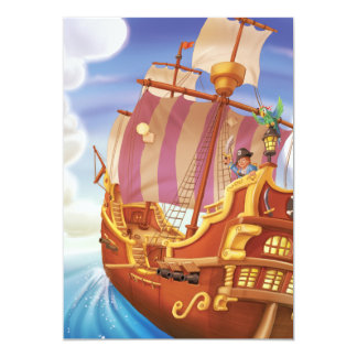 Jingle Jingle Little Gnome Pirate Ship Invitation