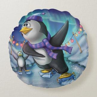 Jingle Jingle Little Gnome Round Penguin Pillow