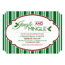 Jingle & Mingle Company Christmas Party Invitation