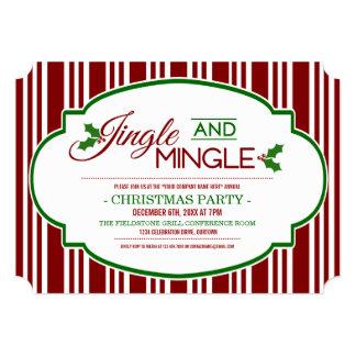 Jingle & Mingle Company Christmas Party Invitation