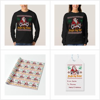 Jingle My Balls Santa Claus Ugly Christmas Gifts