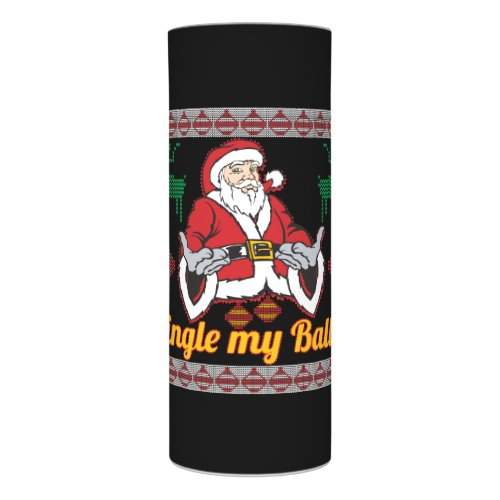 Jingle My Balls Santa Claus Ugly Christmas Sweater Flameless Candle