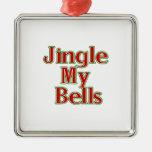 Jingle My Bells (2) Square Metal Christmas Ornament