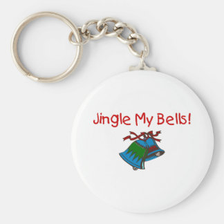 Jingle My Bells Basic Round Button Keychain