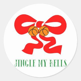Jingle My Bells Classic Round Sticker