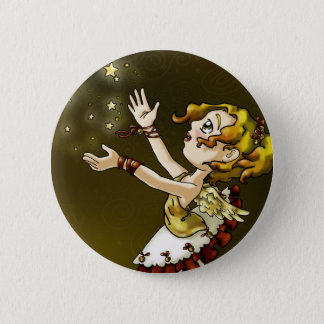 Jingle Star Pinback Button