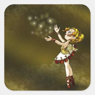 Jingle Star Square Sticker