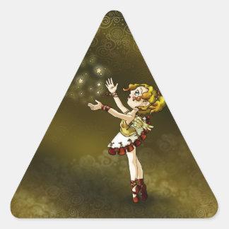Jingle Star Triangle Sticker