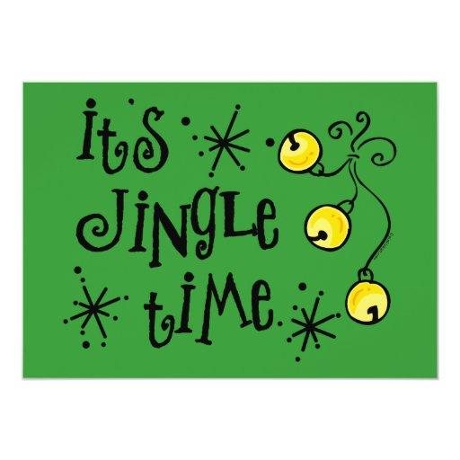 Jingle Time Custom Holiday Invitation