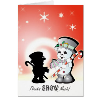 Jingles the snowman card