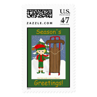 Jingles with Sled  Postage Stamps