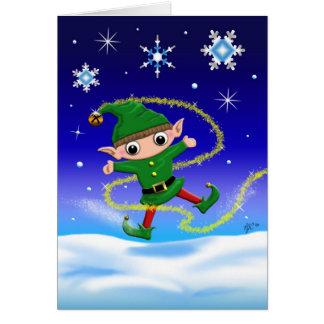 Jinglz™ Jingle Bell Elf greeting card