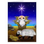 Jinglz™ Jingle Bell Lamb & Baby Jesus card