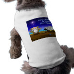 Jinglz™ Jingle Bell Lamb & Baby Jesus dog shirt