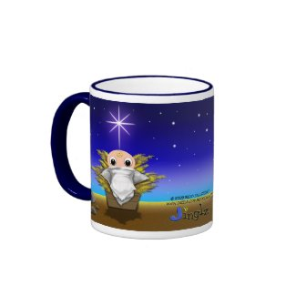 Jinglz™ Jingle Bell Lamb & Baby Jesus mug mug