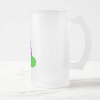 Jingy 16 Oz Frosted Glass Beer Mug