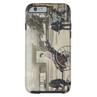 'Jinrikisha' in front of a temple, c.1880 (hand co Tough iPhone 6 Case