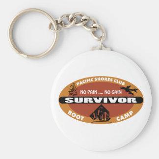 Jin's Bootcamp Survivor Logo Basic Round Button Keychain
