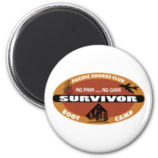 Jin's Bootcamp Survivor Logo Magnet
