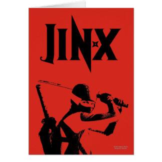 Jinx  3 greeting card