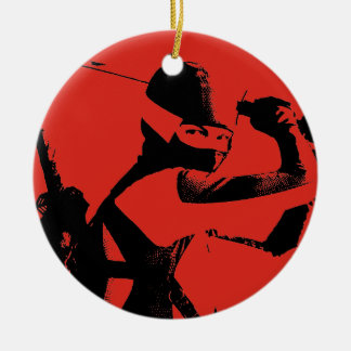 Jinx  3 Double-Sided ceramic round christmas ornament