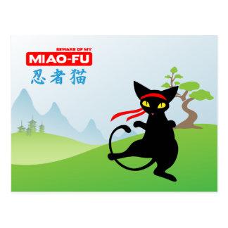 Jinx the Cat: Miao-Fu Postcard