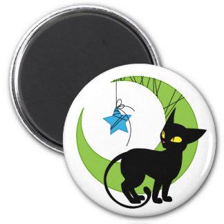 Jinx the Cat Moon Magnet
