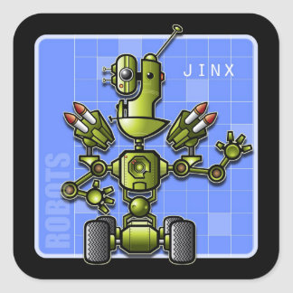 Jinx the Robot Square Sticker