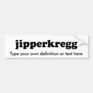 JIPPERKREGG BUMPER STICKER
