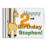 Jirafa:: 2da tarjeta de cumpleaños feliz