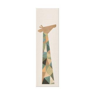 Jirafa abstracta impresión en lienzo