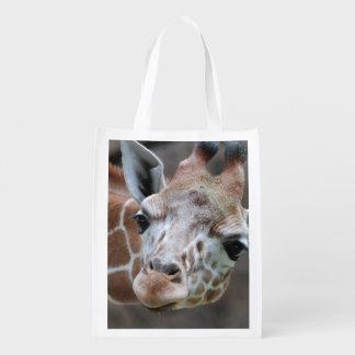 Jirafa adorable bolsa para la compra