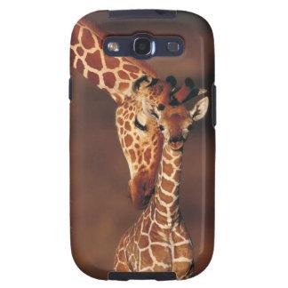 Jirafa adulta con el becerro (camelopardalis del G Samsung Galaxy S3 Fundas