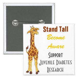 Jirafa alta del soporte - Pin de la diabetes juven