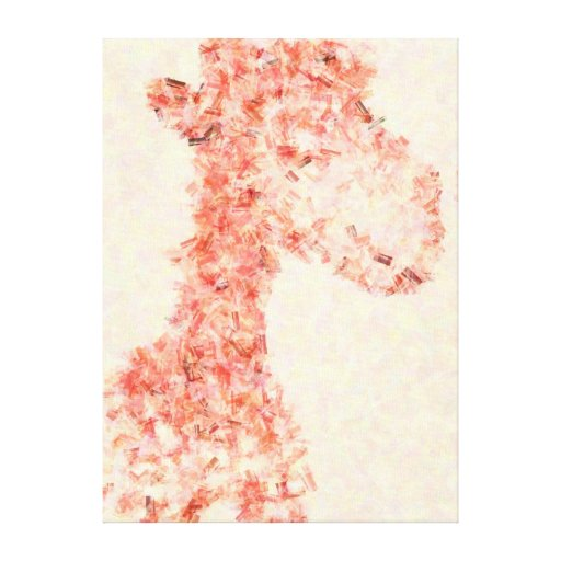 Jirafa artsy anaranjada impresiones de lienzo