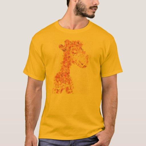 Jirafa artsy anaranjada playera