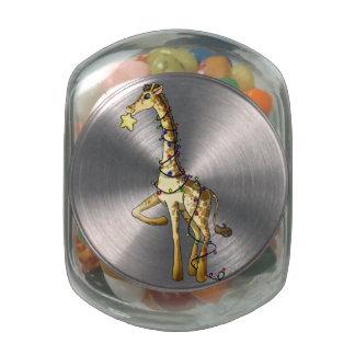 Jirafa brillante jarrones cristal