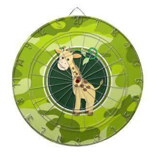 Jirafa camo verde claro camuflaje tabla dardos