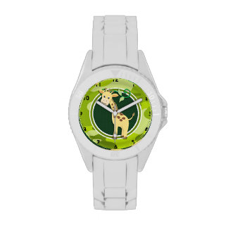 Jirafa; camo verde claro, camuflaje relojes de mano