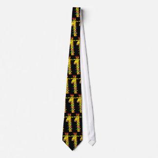 Jirafa caprichosa del navidad con el lazo corbata personalizada