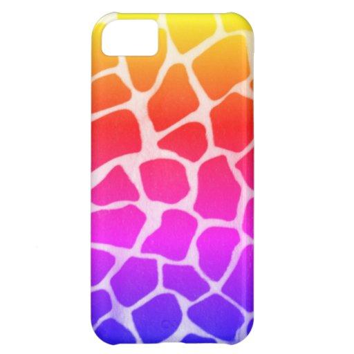 Jirafa colorida funda para iPhone 5C