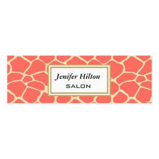 Jirafa con clase moderna elegante profesional tarjetas de visita mini