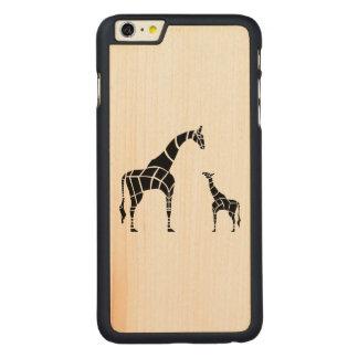 Jirafa con el becerro funda de arce carved® para iPhone 6 plus slim