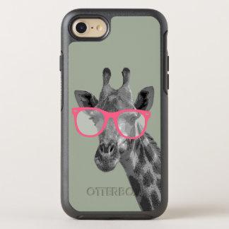 Jirafa con el teléfono divertido lindo de los funda OtterBox symmetry para iPhone 7